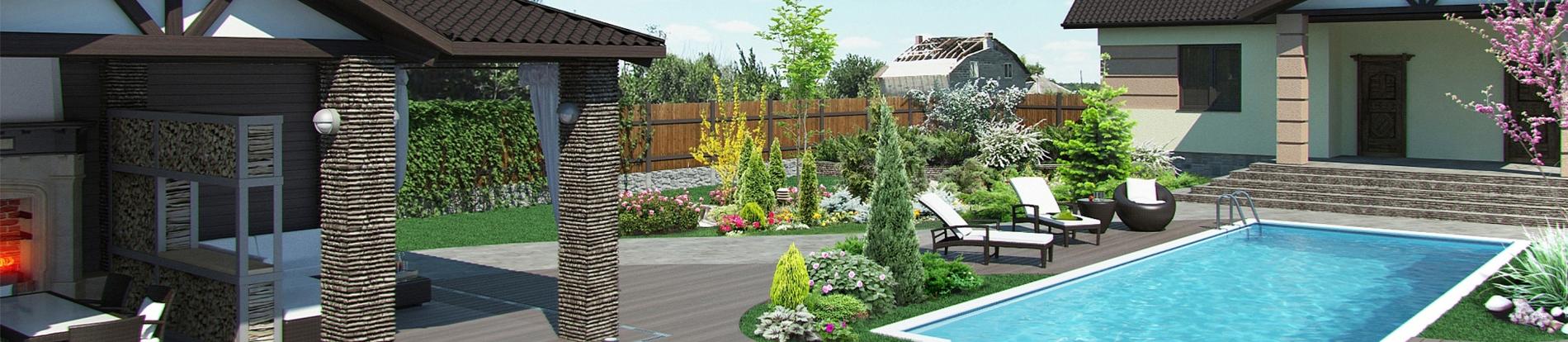 giardini idee pratiche manutenzione : Rendering di giardini - terrazzi - rotonde - VerdeBlu Giardini
